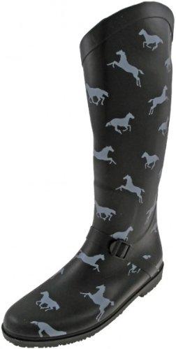 Capelli New York Rain Boots 'Running Horses', black