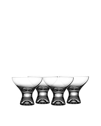 Jay Imports Set of 4 Gina Martini Glasses, Clear