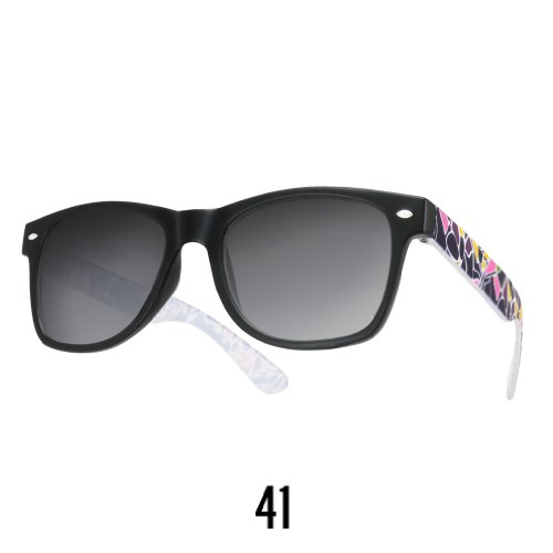 Sonnenbrille Nerdbrille retro Wayfarer Unisex Herren/Damen Sonnenbrille, UV-Schutz 400, Schildpatt Herren Sonnenbrille Spicoli 4 Shades, Tortoise Aussen, One size (41)
