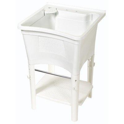 Zenith LT2005W ErgoTub Full Featured Freestanding Laundry Tub