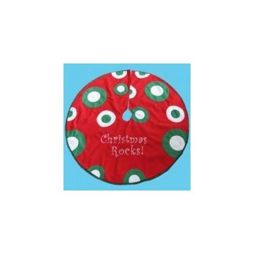 Amazon Com 48 Quot Funky Red Polka Dot Felt Quot Christmas Rocks