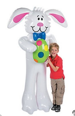 Jumbo Inflatable Easter Bunny - Games & Activities & Inflates front-1066626