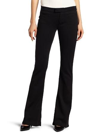 Calvin Klein Jeans Women's Petite Welt Pocket Flare Pant, Black, 6