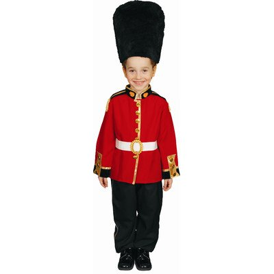 Children's Red & Black Royal Guard Complete Costume - Size Small (4-6) (British Statue compare prices)