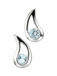 Elements E3057T - Pendientes de mujer de plata con topacios