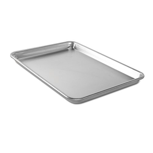 Nordic Ware Natural Aluminum Commercial Baker's Jelly Roll Baking Sheet (Steel Jelly Roll Pan compare prices)