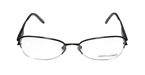 judith-leiber-1581-womens-ladies-cat-eye-half-rim-titanium-eyeglasses-spectacles-53-17-130-gunmetal