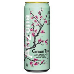 ** Green Tea With Ginseng & Honey, 23 Oz Can, 24/Case **