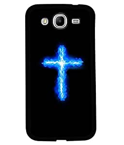 printtech Cross Streak Flaming Electric Back Case Cover for Samsung Galaxy Mega 5.8 i9150::Samsung Galaxy Mega 5.8 i9152