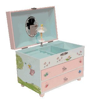 Fairy Garden Musical Jewelry Box