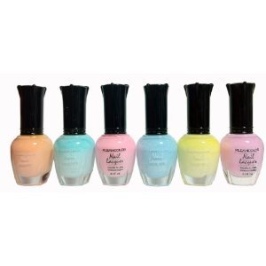 Kleancolor-Nail-Lacquers-6-Color-NEW-Pastel-Spring-Collection