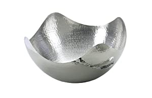 Elegance Hammered 10-Inch Stainless Steel Wave Serving Bowl by Elegance