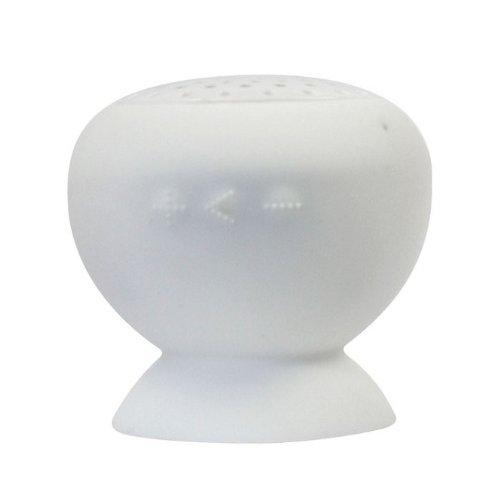 Amtonseeshop Waterproof Mini Mushroom Wireless Bluetooth Speaker (White)