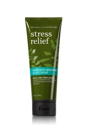 バス&ボディワークス アロマセラピー ストレスリリーフ ユーカリスペアミントクリーム STRESS RELIEF Eucalyptus Spearmint Body Cream