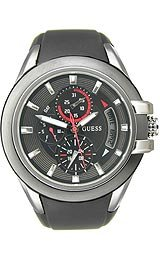 Guess Waterpro Black Multifunction Strap Black Dial Men's Watch #U10575G1