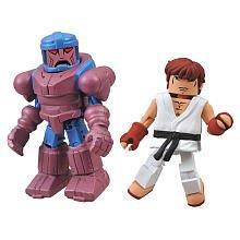 Marvel Vs Capcom 3 Minimates Series 2 Exclusive Mini Figure 2Pack Sentinel Vs. Ryu