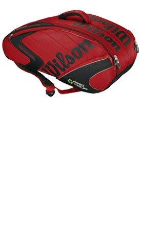 Wilson Schlägertasche K Pro Tour Six Bag, Rot, 76 x 23 x 33 cm, 40 Liter, WRZ800211