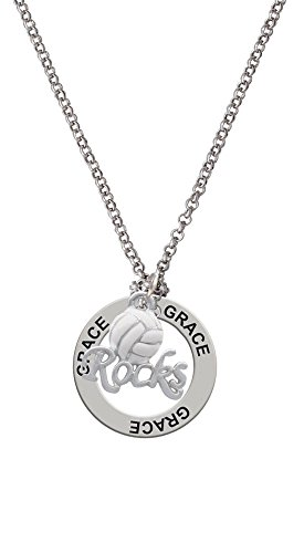 Enamel Volleyball ''Rocks'' - Grace Affirmation Necklace
