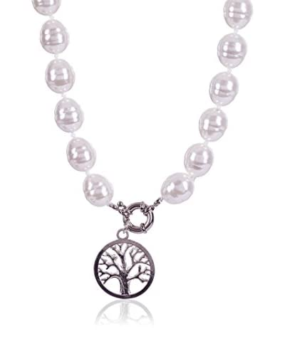 My Silver Collana Great Tree Of Life  Bianco