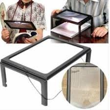 Foldable-Full-Page-Large-Magnifier-3X-With-LED-Light-For-Reading