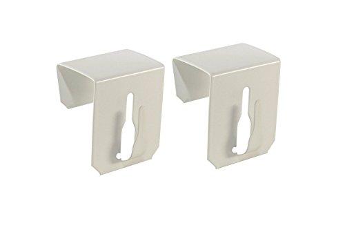 Dekohaken24 extra tringle télescopique 40-60 cm blanc 20-23 mm idéal pour dreifachverglasung pour vitrage avec 2 supports de serrage