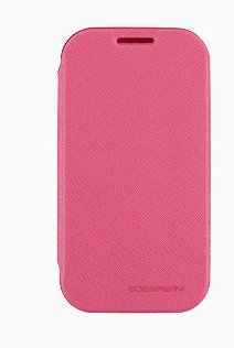 Note2 Case, Mercury Fancy Flip Style Diary Case For Samsung Galaxy Note2 (5 Colors) Wallet Style (At&T, Verizon, Sprint, T-Mobile) - Retail Packaging (Hot Pink)