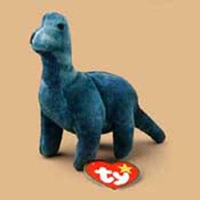 Bronty the Brontasaurus McDonald's Ty Teenie Beanie SuperStar 2000 - 1