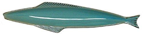 Stoneware Fish Azure Blue Small Olive Tray, Set of 2 - 14