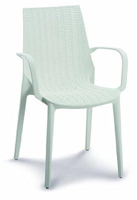 Best 18100200 Stapelsessel Linette, weiß von BEST bei Gartenmöbel von Du und Dein Garten