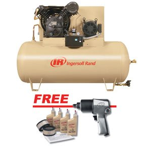 Electric Driven Two Stage, 10 Hp W/ Air Impact Wrench & Start Up