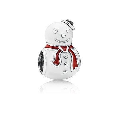 Pandora 791406enmx Happy Snowman Charm