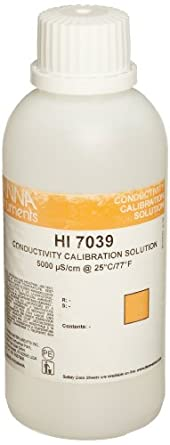 Hanna Instruments HI 7039M Calibration Solution, 5000 µS/cm EC Solution, 230mL Bottle