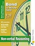 Cover of Bond 10 Minute Tests Non-verbal Reasoning 9-10 years by Alison Primrose 0748798994