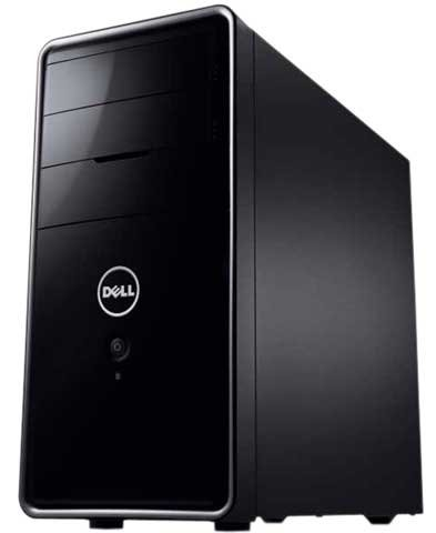 Dell Inspiron Desktop I620-1040BK - Intel Processor G630 2.7GHz, 4GB DDR3 Memory, 1TB Hard Drive, CD/DVD Burner, Windows 7 Professional, Black