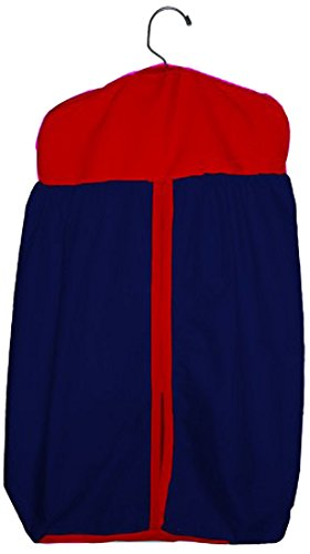 Baby Doll Reversible Diaper Stacker, Navy/Red