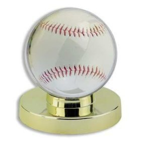 Baseball Display Case - Baseball Holder With Gold Base By Ultra Pro front-692811