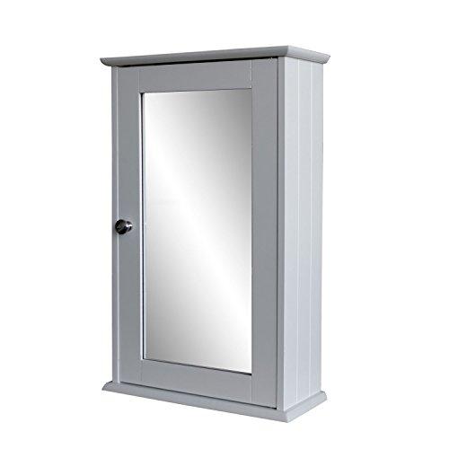 Spiegelschrank-53x34x15cm-Hngeschrank-Medizinschrank-Wandschrank-fr-Bad-und-Flur-Badezimmerschrank-Holzschrank-mit-Spiegeltr-MDF-Wei