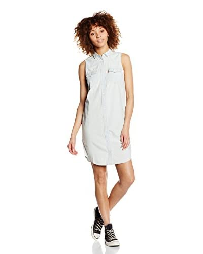 Levi's Vestido Camisero Slv Western Dress Light Indigo