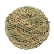 "Tea Cabin Decorative Fabric Ball #4, 1.5"" Diameter, Sold As Set Of 6"