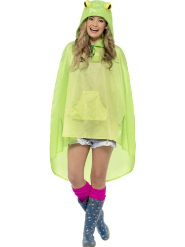 Frog Party Poncho Fancy Dress Unisex Adult Costume