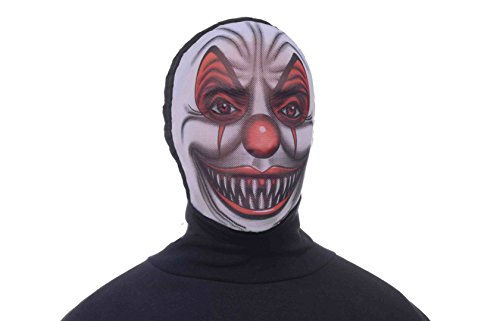 Forum Novelties Men's Scary Clown Hooded Mesh Mask
