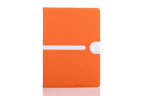 Apple Ipad Air 2 Case Borch Fashion Luxury Multi-Function Protective Leather Light-Weight Folding Flip Smart Case Cover For For Ipad Air 2 (Orange)