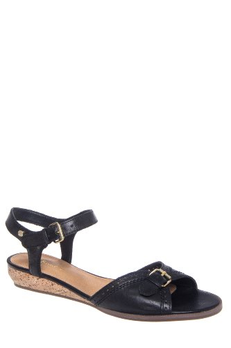 Bass Jemima Low Wedge Ankle Strap Sandal