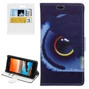 Fish Eye Pattern Horizontal Flip Magnetic Buckle Leather Case with Card Slots Wallet Holder for Huawei Y635