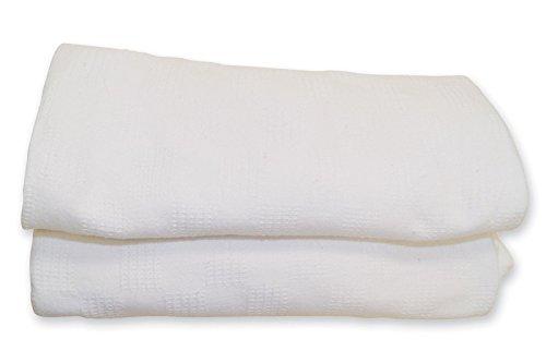 Jmr White Hospital/Home Thermal Blanket Snagfree 100% Cotton Size 66x90 (Thermal Blanket Cotton compare prices)