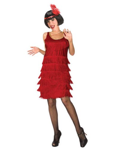 Flapper Red Adult 6-8 Adult Womens Costume