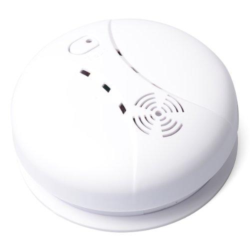XCSOURCE® 2x Détecteur de Fumée interconnexion sans fil pour la sécurité à domicile Système de détection d'alarme incendie avec pile 9V CN122
