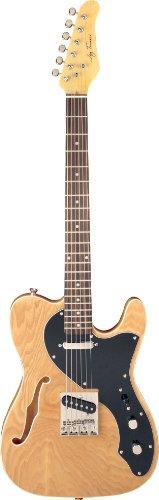 Jay Turser Lt Series Jt-Ltcrusdlx-N Semi Hollow-Body Electric Guitar, Natural
