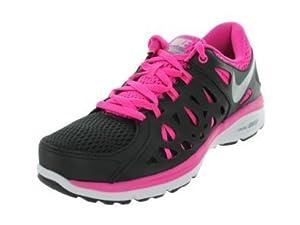 Nike Women's Dual Fusion Run 2 Blk/Mtllc Slvr/Arnry Slt/Pnk F Running Shoes 7...