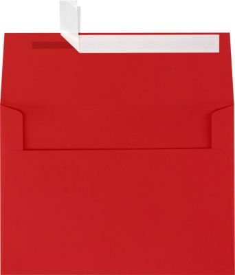 A7 Invitation Envelopes w/Peel & Press (5 1/4 x 7 1/4) - Ruby Red (50 Qty.) | Perfect for Invitations, Announcements, Holiday & Greeting Cards, 5 x 7 Photos | Printable | 80lb Text Paper | EX4880-18-50 (Offset Press Printer compare prices)